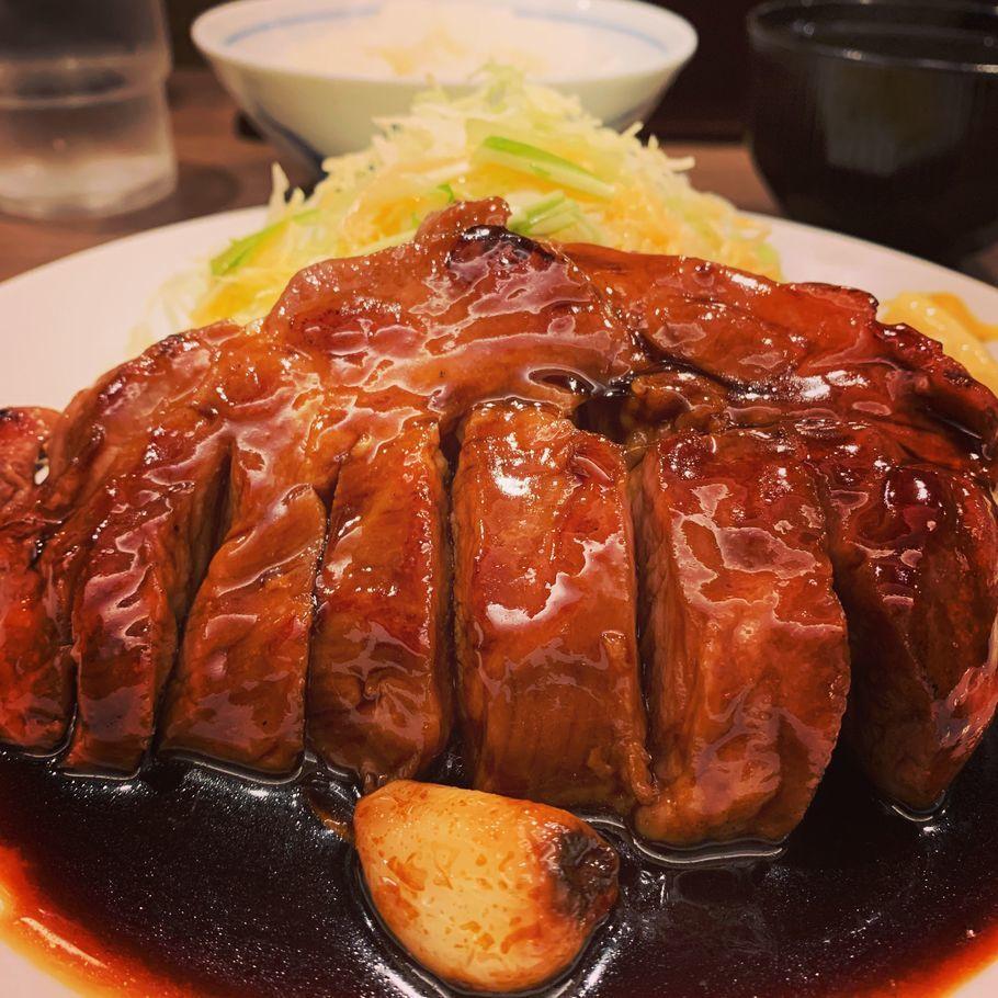 トンテキ定食(200㌘)