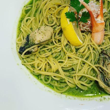 Pasta de Pastaズワイガニとカキのバジルスパゲティ3