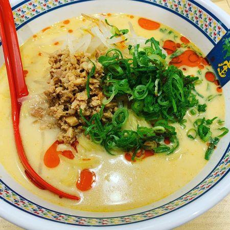 神座の冷たい豆乳担々麺3