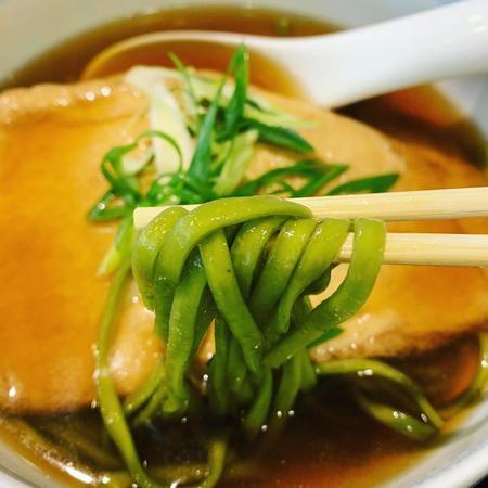 宇治園喫茶去の生茶麺の麗し緑