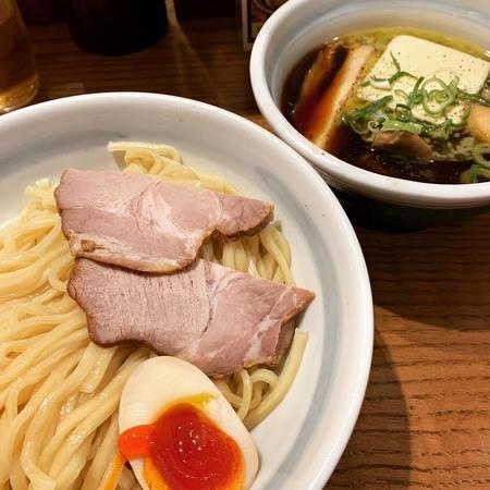熊五郎きのこバターつけ麺1