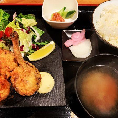 近江の鶏の唐揚げ定食