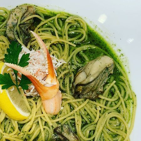 Pasta de Pastaズワイガニとカキのバジルスパゲティ2
