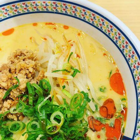 神座の冷たい豆乳担々麺1