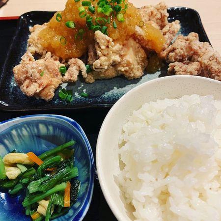 祇園囃子のおろしポン酢唐揚げ定食1