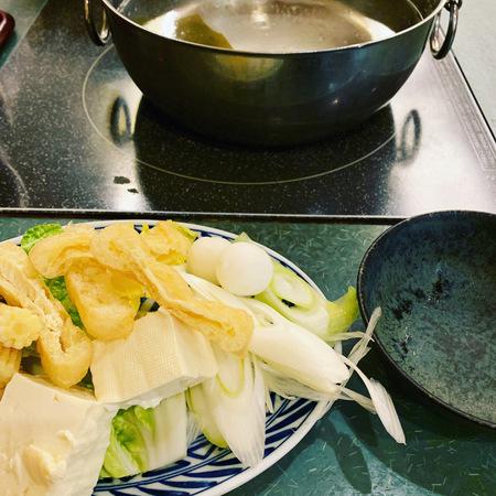 しゃぶ扇お鍋の野菜おかわり自由