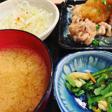 祇園囃子のおろしポン酢唐揚げ定食2