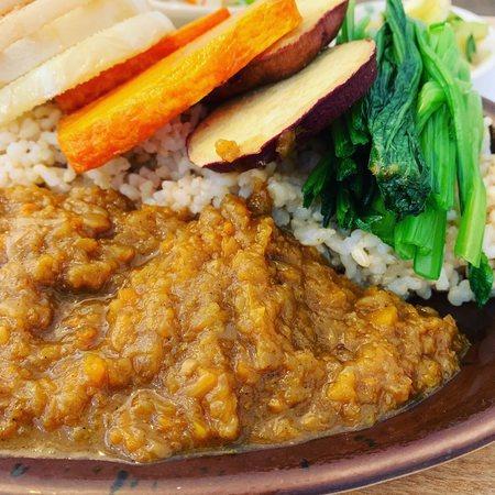 玄三庵のランチ野菜たっぷり玄米カレー