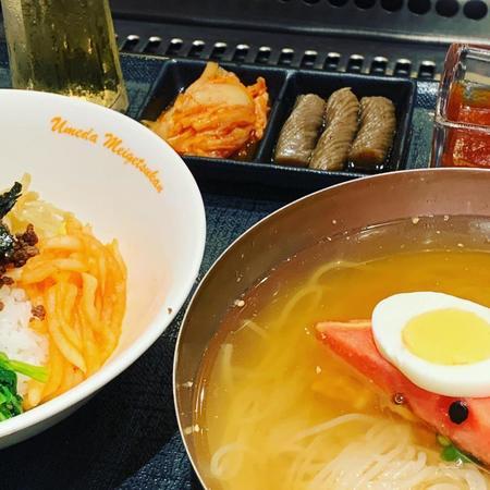梅田明月館冷麺セット