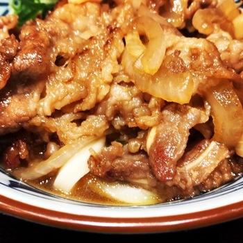 丸亀製麺の牛山盛り冷やしうどん1