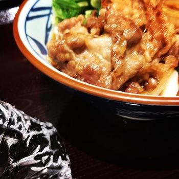 丸亀製麺の牛山盛り冷やしうどん2