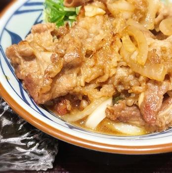丸亀製麺の牛山盛り冷やしうどん4