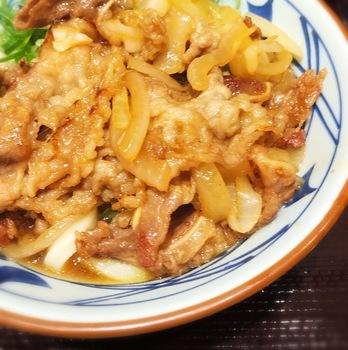 丸亀製麺の牛山盛り冷やしうどん3