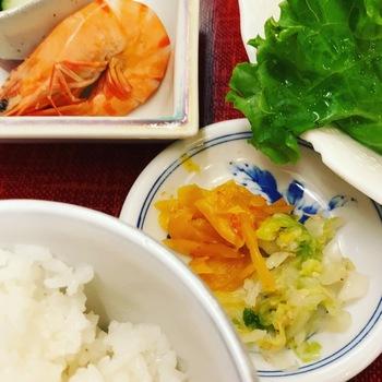 えび三郎ご飯と漬物