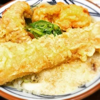 丸亀製麺ちく天ぶっかけうどん風