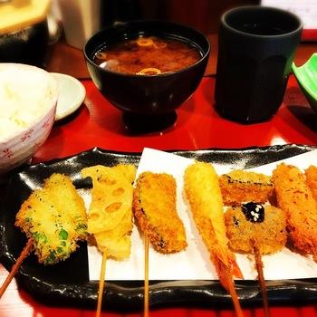 串カツ定食 8本串