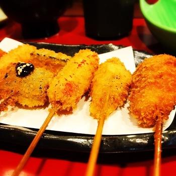 赤とんぼ串カツ定食2