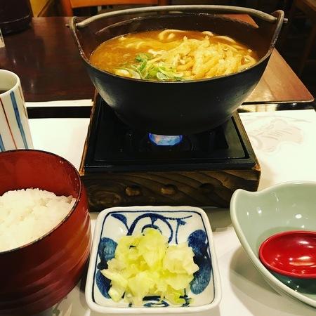 鍋焼きカレーうどん定食