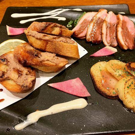 中村屋の炭コース前菜