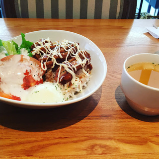 the earth cafeてりやきチキン丼1
