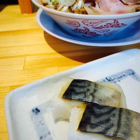 サバ醤油そば+サバ寿司