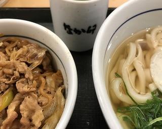 なか卯ハイカラうどんとミニ牛丼1