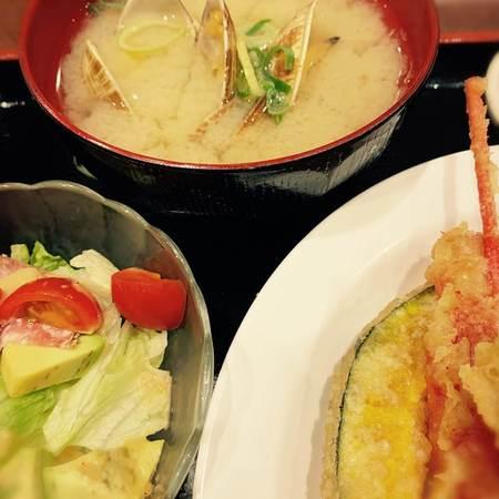 天ぷら大吉あさり汁