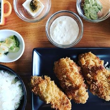 WHARF牡蠣フライ定食0