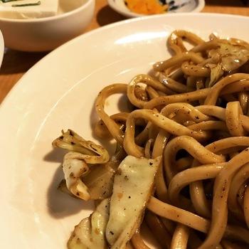 えき亭焼きうどん定食3