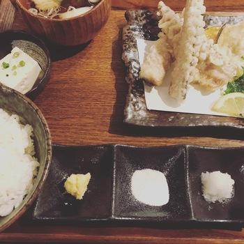 sabar若さば天ぷら定食