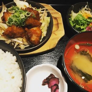 若鶏の甘酢あん炒め定食