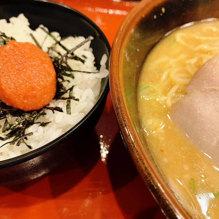 辛子明太丼セット