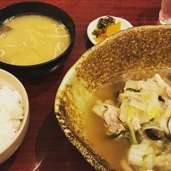 豚と白菜のみぞれ煮(本日の日替)
