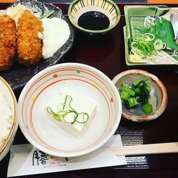 膳やカキフライと秋刀魚のお造り膳