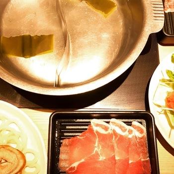 しゃぶ菜豚しゃぶ定食ランチ2