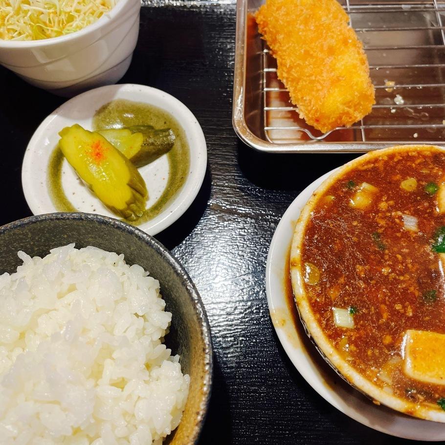 こぼし麻婆豆腐定食(A定食)