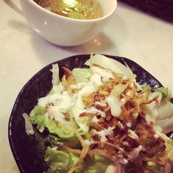 オリエンタルブッダのサラダとスープ