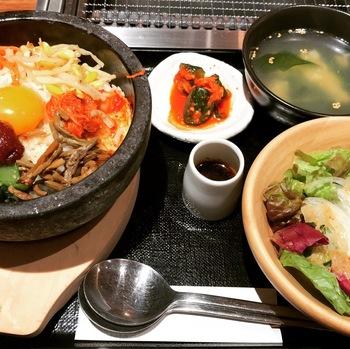 焼肉ニッポン石焼ビビンバランチ1