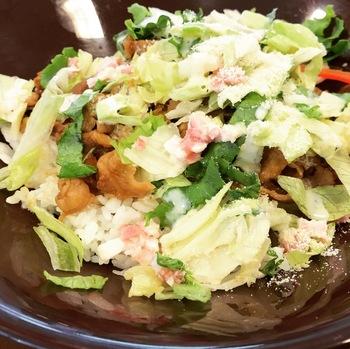 シーザーレタス牛丼(並)