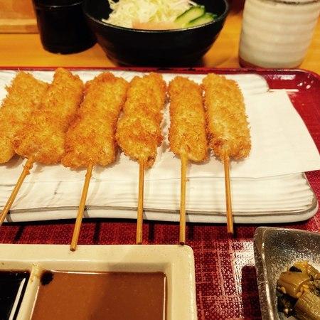 串かつ料理 活 ホワイティうめだ店トンへレ定食1