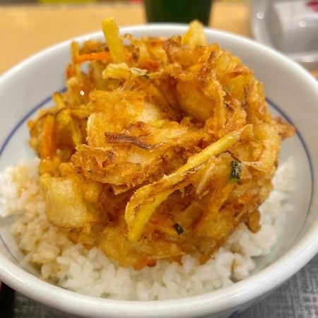なか卯 梅田東店特製かき揚げ丼(並)