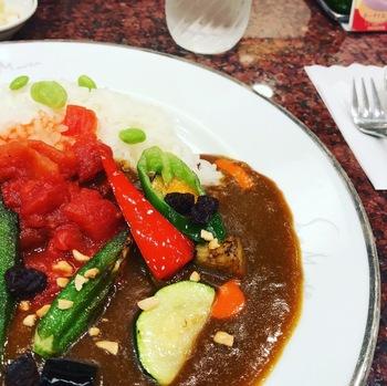サンマルコ三番街店夏野菜カレー1